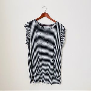Able•Distress Striped Shirt